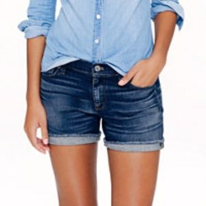 J.Crew Indigo Denim Dark Von Wash Shorts